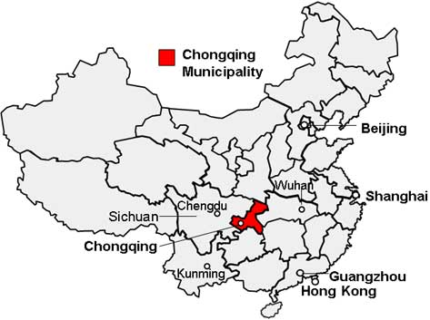 Location map, Chongqing
